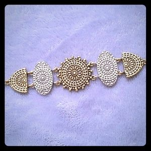 Lucky Brand Two-Tone Tribal Bracelet